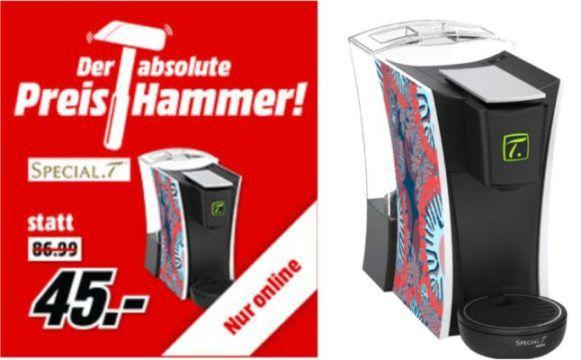 Media Markt Preishammer: SPECIAL.T MINI.T Teemaschine (1470 Watt, 1.3 Liter) für 45€