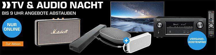 TV & Audio Nacht bei Saturn z.B. Bluetooth Lautsprecher Marshall Stockwell für 111€ (statt 142€)