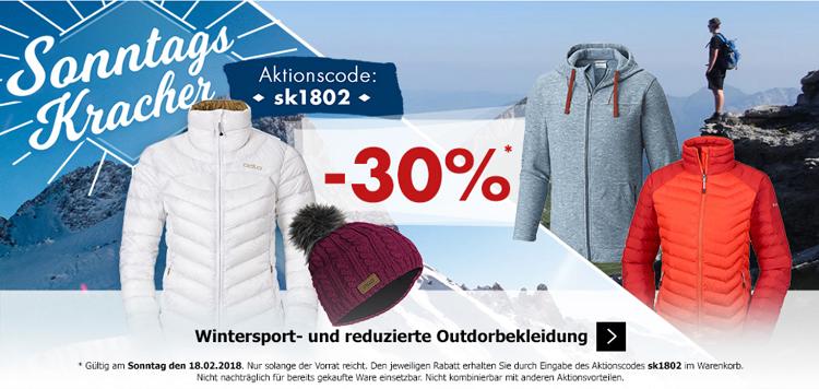 Karstadt Sonntags Kracher mit 30% Rabatt auf Wintersport Kleidung