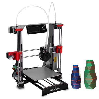 ZONESTAR M8R2   Mixed Color Dual Extruder 3D Drucker für 190,69€ (statt ~300€)