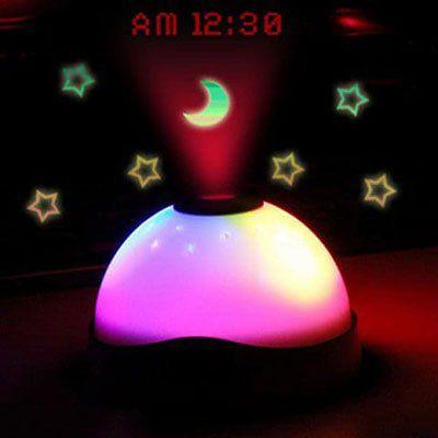 LED Projektionslicht mit Uhr für 3,69€