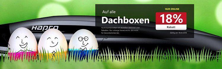 18% auf Dachboxen + 5€ Gutschein bei A.T.U   z.B. Thule Touring L für 322,99€ (statt 357€)