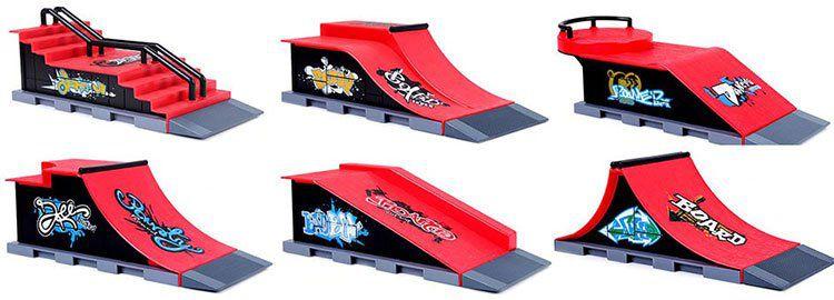Finger Skateboard Skatepark Sets in versch. Designs für je 9,07€