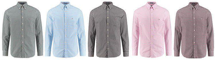 Gant Freizeithemden The Oxford Gingham für je 54€ (statt 90€)