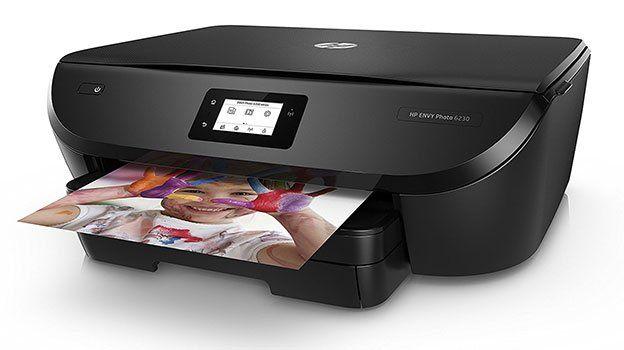 HP ENVY Photo 6230 Multifunktionsdrucker (Fotodrucker, Scanner, Kopierer, WLAN, Airprint) für 55€ (statt 65€)
