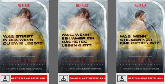 Altered Carbon Netflix Plakate kostenlos