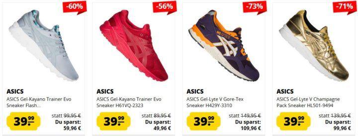 SportSpar: günstige Asics GEL Sneaker für Damen und Herren ab 39,99€