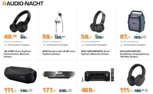 Saturn Late Night Audio Nacht: JBL C45BT On ear Kopfhörer für 49,99€