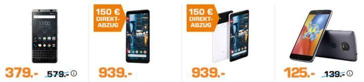Saturn: Nacht der Smartphones   z.B. BLACKBERRY KEYone für 379€