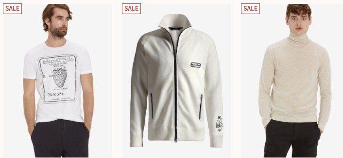 Marc OPolo Winter Sale mit exakt 50% Rabatt auf Winter Styles   z.B. Trainer Jacke Robbie Williams Edition für nur noch 59,90€
