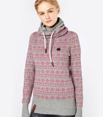 Naketano Damen Pullover mit All Over Muster für 39,90€ (statt 60€)