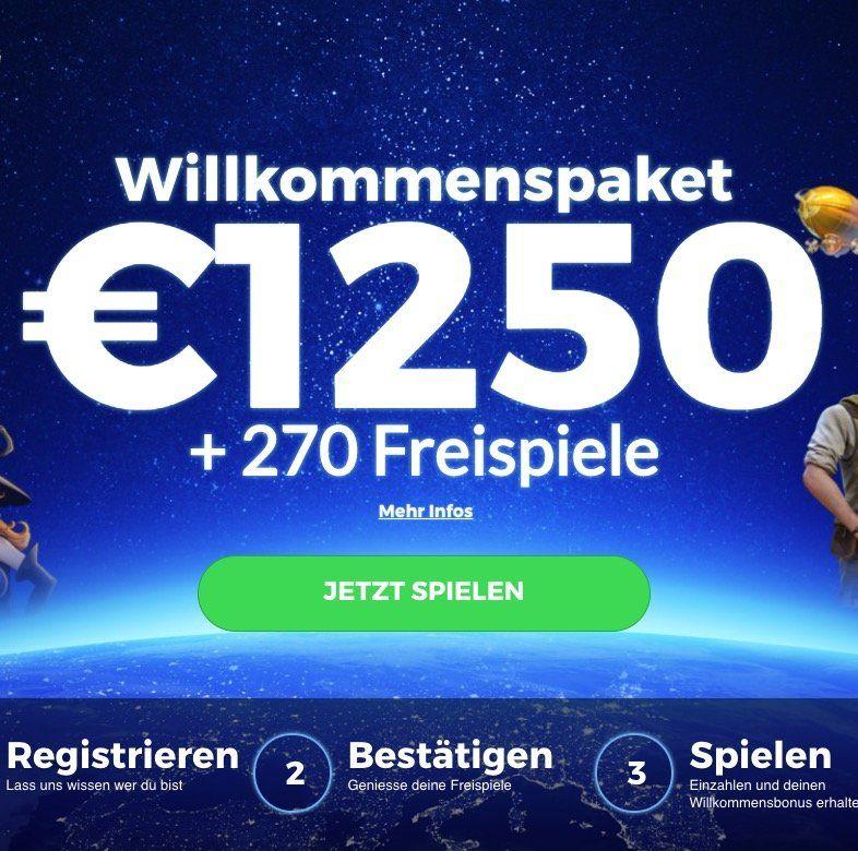 Multilotto Casino mit bis zu 1.250€ Bonus und bis zu 270 Freispiele für Book of Dead
