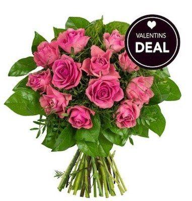 """Rosenstrauß """"My Valentine"""" mit 12 Rosen für 19,98€"""