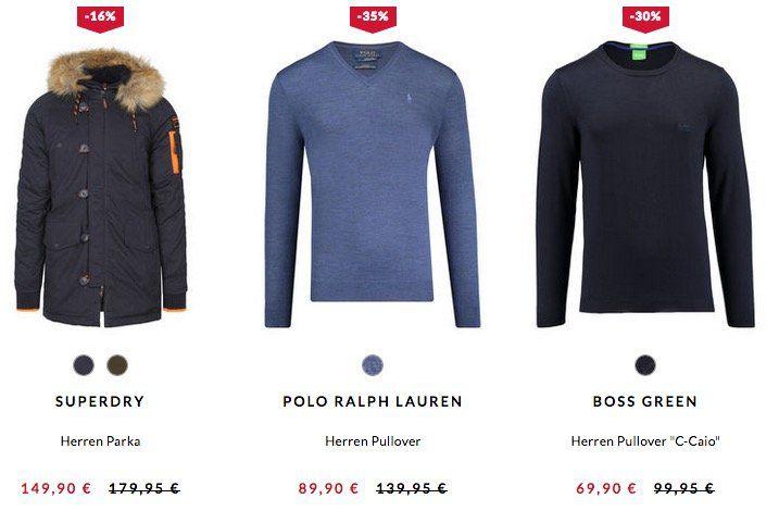 Top! Engelhorn Wintersale bis zu 60% Rabatt   z.B. Tommy Hilfiger Herren Pullover Pima Cotton Cashmere für 59,90€ (statt 80€)