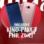 Samsung Galaxy S8 für 4,95€+ o2 Free M mit 10GB LTE für 34,99€ mtl. + 50€ Kino-Paket* gratis