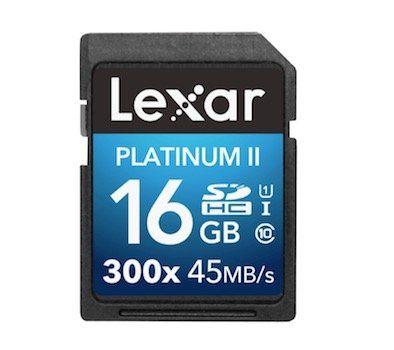 LEXAR Platinum II SDHC Speicherkarte 16GB für 5€ (statt 16€)