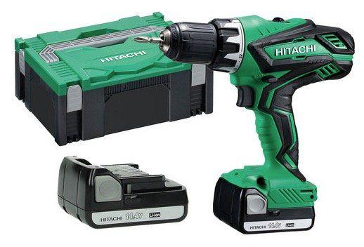 Hitachi DS14DJL Akku Bohrschrauber mit 2 x 1,5Ah für 105,90€ (statt 159€)