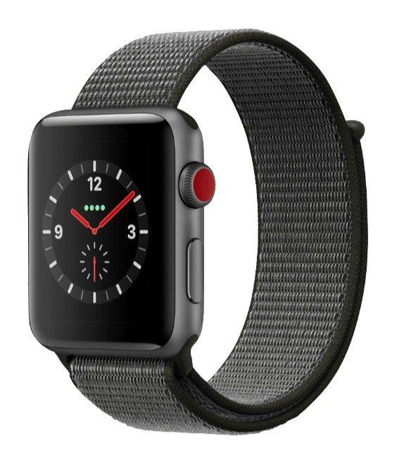 Apple Watch Series 3 (GPS + Cellular) 42 mm mit Nylon Armband + BEATS Powerbeats 3 In Ear Kopfhörer für 479€ (statt 566€)