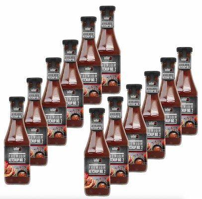 12er Pack Weber Premium Ketchup No. 2 Grillsauce (je 450ml) für 11,11€ (statt 48€)   MHD 05/18