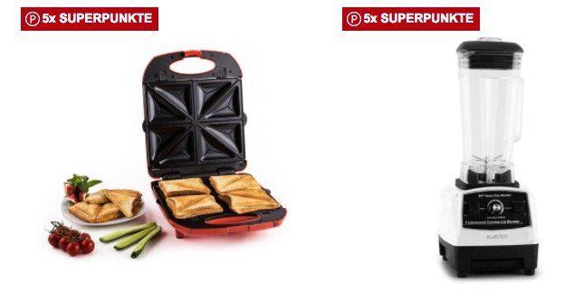 Klarstein Angebote bei Rakuten   z.B. Trinity Sandwich Maker für 42,49€ (statt 55€)