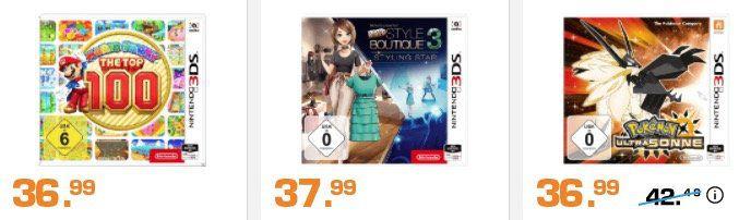 Saturn: 3 Nintendo 3DS Spiele kaufen und nur 2 bezahlen