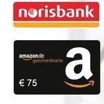 norisbank Girokonto (komplett kostenlos + Kreditkarte) + 75€ Amazon.de Gutschein* – kein Gehaltseingang mehr notwendig!
