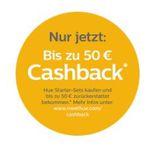 Philips Hue Starter-Sets mit bis zu 50€ Cashback