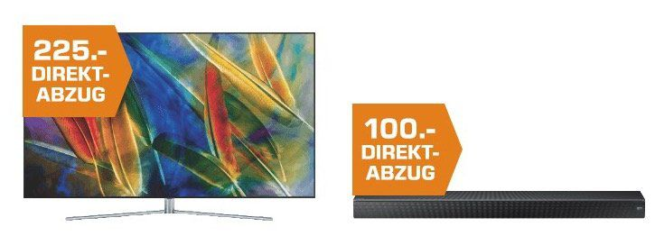 Saturn: Bis zu 1.000€ Sofort Rabatt auf Samsung Fernseher, Soundbars etc.