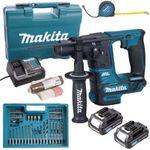 Makita 10.8 V SDS+ Akku Bohrhammer HR166DSAE1 mit 2 x 2,0 Ah + Ladegerät + Zubehör-Set im Koffer für 130,45€ (statt 146€)