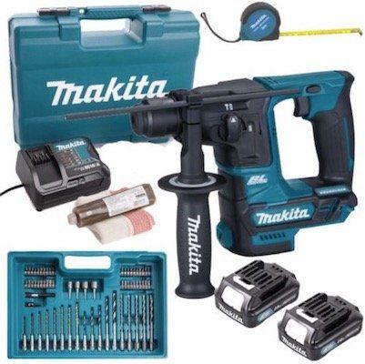 Makita 10.8 V SDS+ Akku Bohrhammer HR166DSAE1 mit 2 x 2,0 Ah + Ladegerät + Zubehör Set im Koffer für 135,96€ (statt 149€)