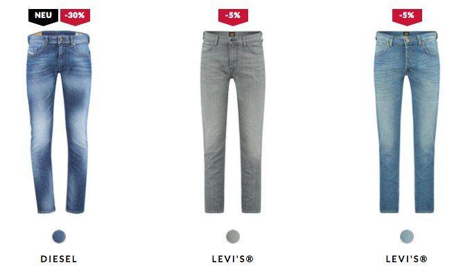 Günstige Diesel und Levis Jeans bei engelhorn   z.B. Diesel Tepphar 886Z für 62,41€ (statt 75€)