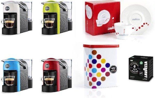 Lavazza A Modo Mio Jolie Kapselmaschine für 44,34€ + gratis Tasse, Dose und 69 Kapseln