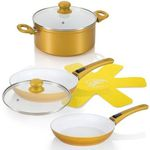 Genius Cerafit Deluxe Gold Edition Keramik Pfannen Topf Set für 54,95€ (statt 100€?)