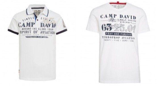 Camp David Weekend Deals   z.B. Poloshirt mit großer Logo Applikation für 39,95€ (statt 50€)