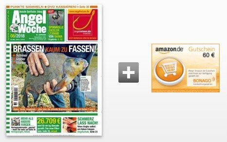 26 Ausgaben der Angelwoche für 71,50€ + 60€ Gutschein