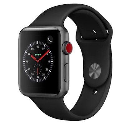 Apple Watch Series 3 (GPS + Cellular) 42 mm mit Sportarmband für 426,87€ (statt 460€)