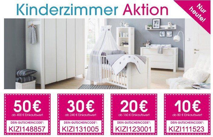 Nur heute: Bis zu 50€ Rabatt auf alles für das Kinderzimmer beim Babymarkt + VSK frei ab 20€