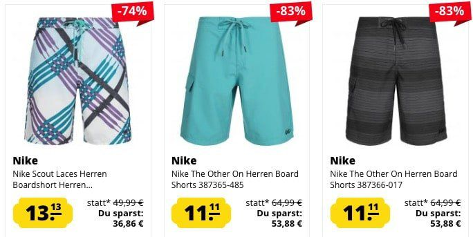 Nike Herren Board Shorts ab nur 15,06€ (statt 22€)