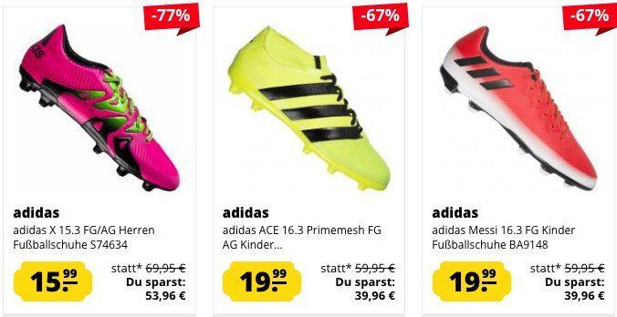 Günstige adidas Fußballschuhe ab 15,99€ bei SportSpar z.B.