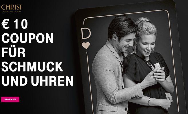 Nur für Telekom Kunden: 10€ Christ Gutschein (On  und offline) gratis