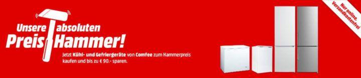 Media Markt Preishammer: Comfree Kühl  u. Gefriergeräte   z.B. COMFEE GS 5585 A++ Gefrierschrank für 159€