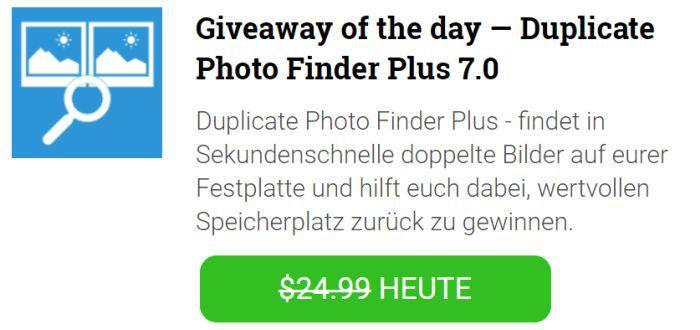 Duplicate Photos Finder Plus 7 (Lifetime Lizenz, Win) kostenlos