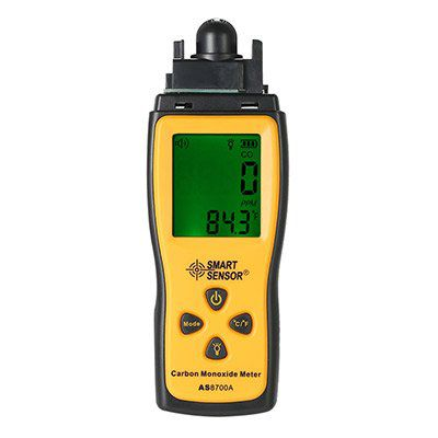 Smart Sensor   Kohlenmonoxid Messgerät mit LCD Display & Alarm für 19,91€