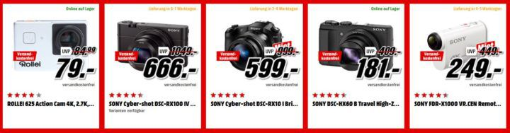 Media Markt Foto Tiefpreiswoche: Heute z.B. CANON EOS 750D Kit DFIN III Spiegelreflexkamera + Objektiv 18 55 mm für 444€ (statt 529€)