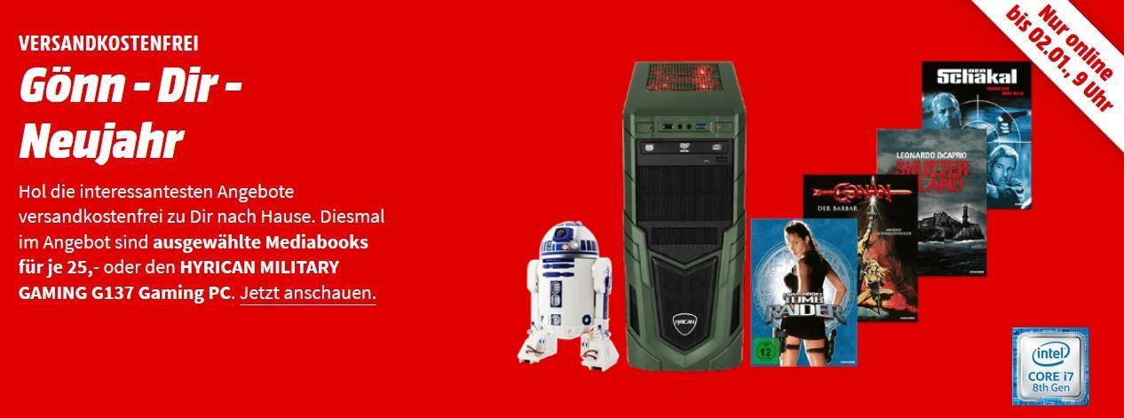 Media Markt Gönn dir Neujahr: günstige Filme und PCs   z.B. MEDION ERAZER P6705 Notebook für 719€ (statt 907€)