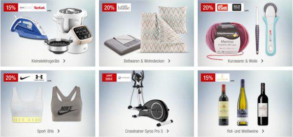 Galeria Kaufhof Sonntagsangebote   z.B. 20% Rabatt auf Sport BHs, Pfannen, Herrenstümpfe und vieles mehr...