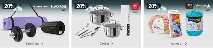 20% Rabatt auf Kleinfitness, Zwilling (Töpfe, Besteck & Co.) uvm.   Galeria Kaufhof Mondschein Angebote