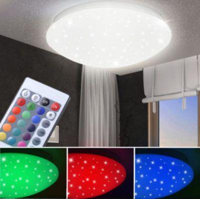 Globo LED RGB Deckenleuchte mit Sternen Effekt und Dimmer inkl. FB für 27,50€