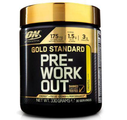 Gold Standard Pre Work Out   Ananas (330g, MHD.: 28.02.18) für 5,19€ (statt 24€)