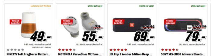 Media Markt Satter Sound zu tiefen Preisen: günstige HiFi Artikel   z.B. MARSHALL Stockwell  BT Lautsprecher für 111€